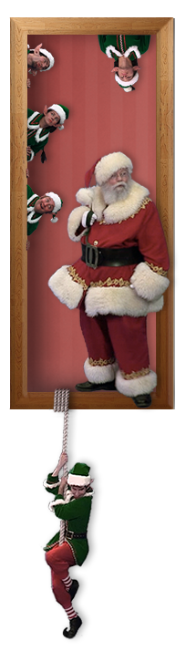 Santa and his mischievous elves